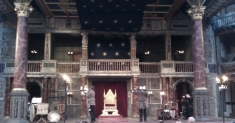 View of the stage during the interval